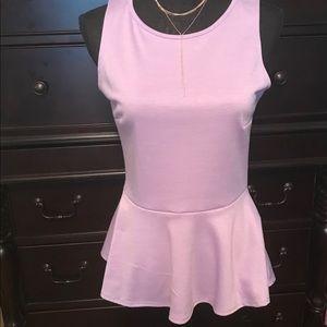 Peplum sleeveless lavender top. Size M. NWT